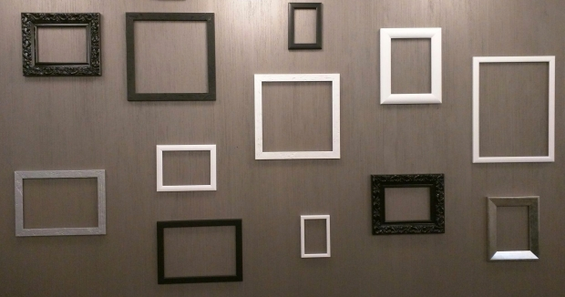 Assorted Empty Frames On A Wall