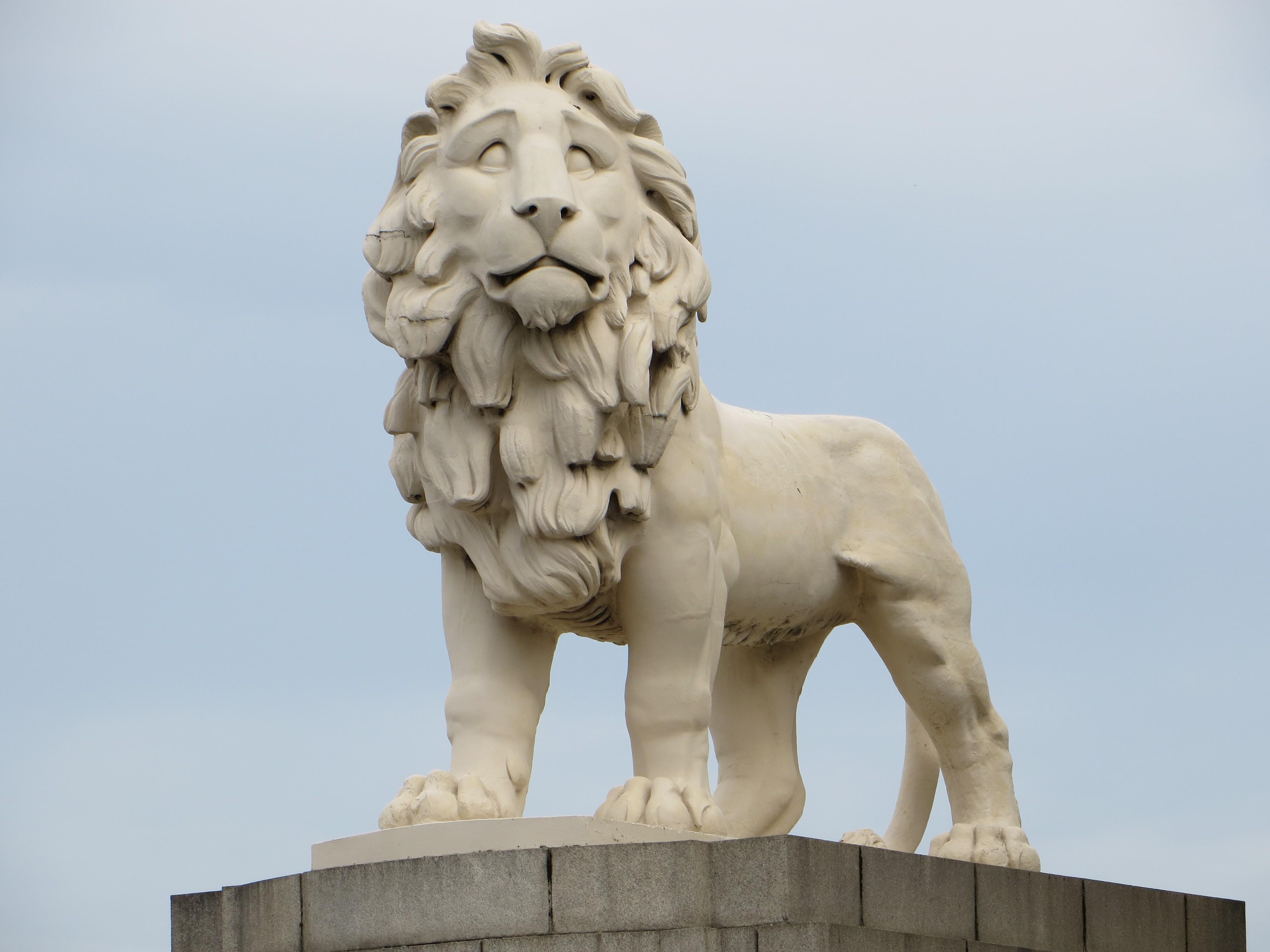 Coade Stone lion in London