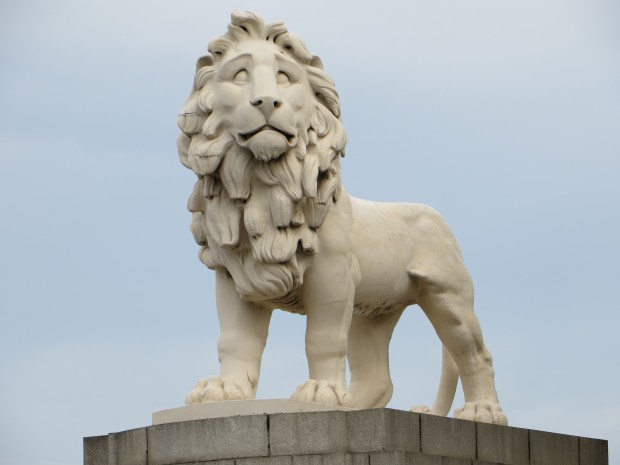 Coade Stone lion in London