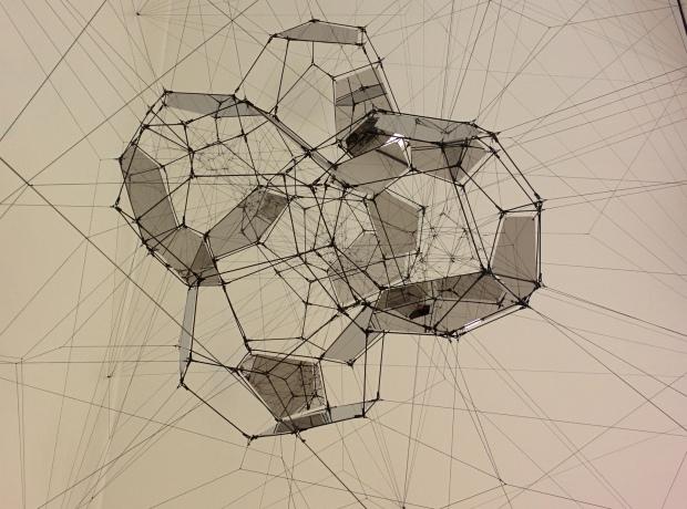 Tomás Saraceno artworks at SF MOMA: Stillness in Motion—Cloud Cities